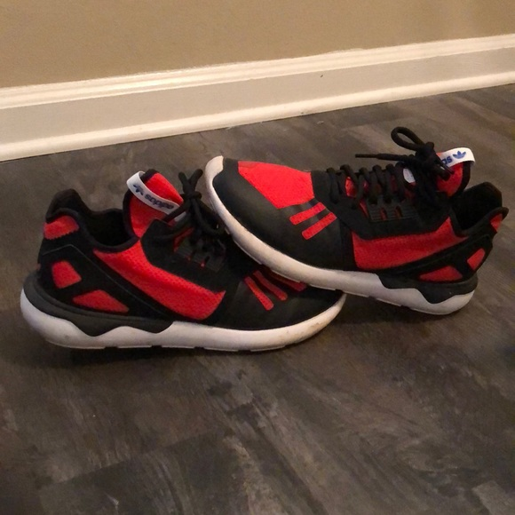 more photos 49daa f2d39 Adidas Tubular Runner. Red and Black. Size 9.5.